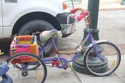 fiber covered delivery bike
