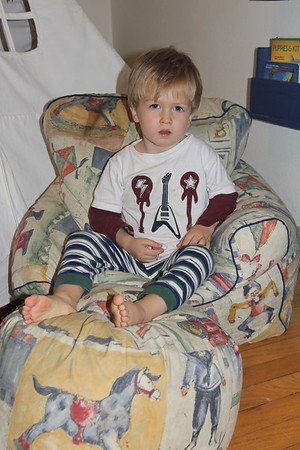 Elliot in the chair that was once Caleb's