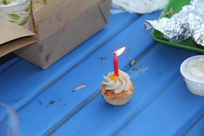 one of Melanie's birthday cupcakes