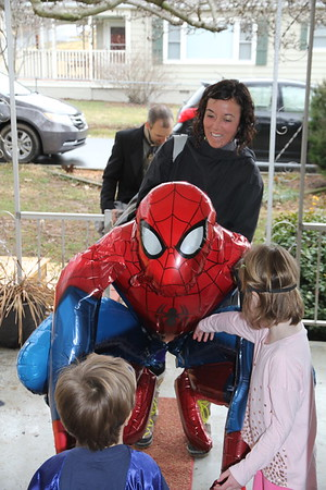 Spiderman was a huge hit as a party guest