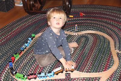 Elliot loves the train    10-2017