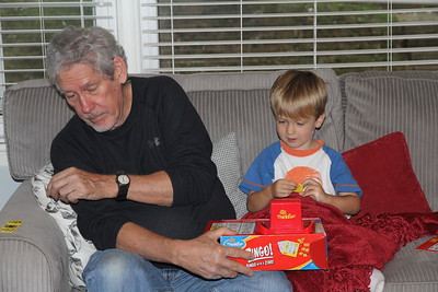 playing Zingo with Granddad