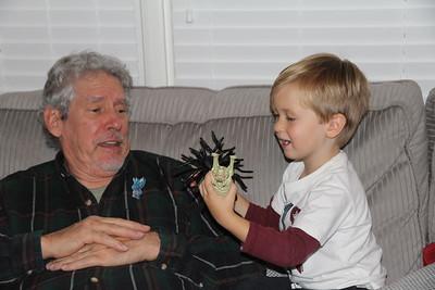 scaring Granddad