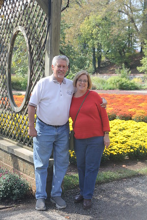 Jan & Ed at Biltmore House Gardens