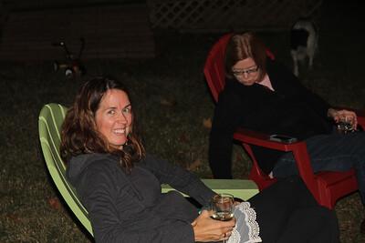 enjoying the bonfire