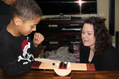 "Sonya did a great job with Christmas gifts - this is a balance  game called "" Rock Archimedes"""