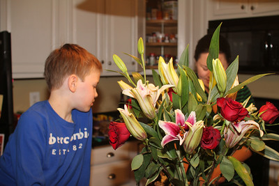 pretty flowers for Daddy's return