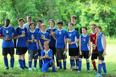 Edward's 2014 Travel Team - they won a tournament before we were there (Edward IV scored the winning goal) photo credit to Sonya