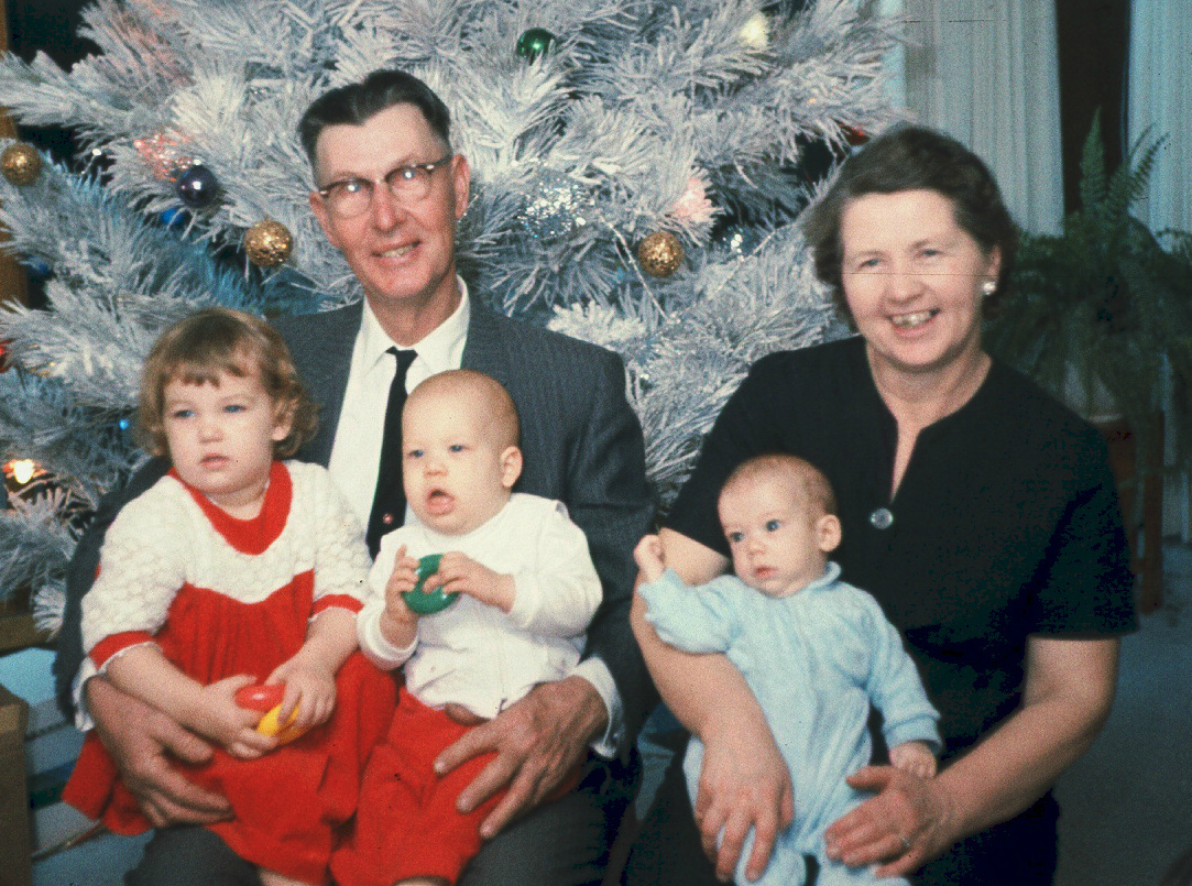 1965 Christmas with Leonard & Olive