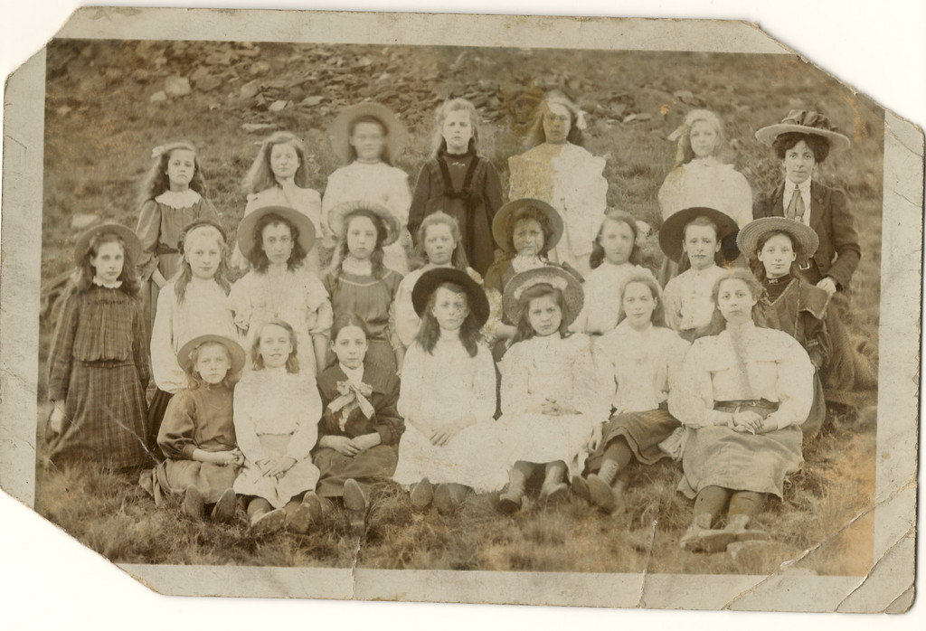 Ivy Cliff ( born 21 Aug 1897) seated 2nd left front row