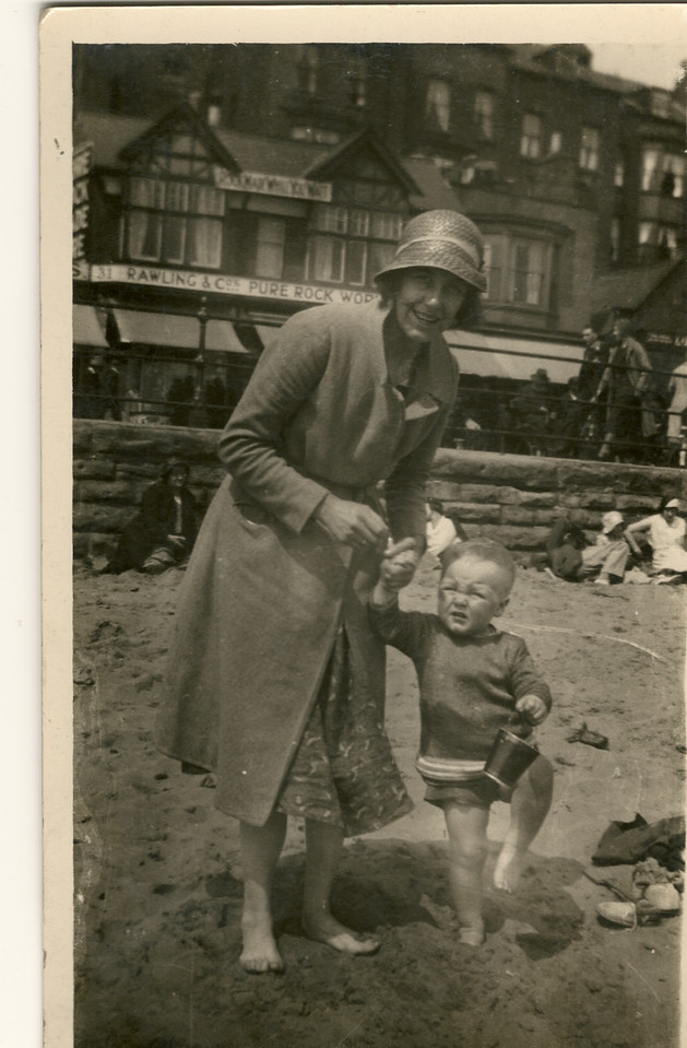 Ivy Waddington with young son Gordon