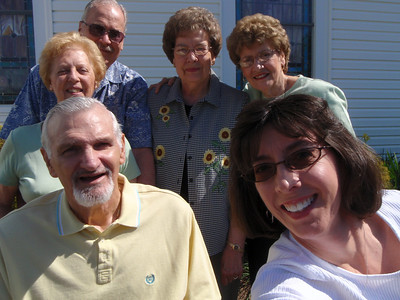 7 - Gladys, Wade, Troy, Sarah, Betty, and Jenny (self-portrait)  at Mt. Olive Lutheran Church