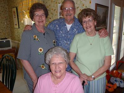 12 - Sarah, Jane, Wade, and Betty at Jane's house