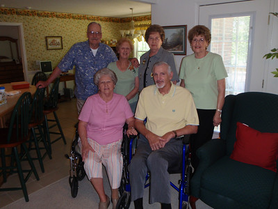 8 - Wade, Jane, Gladys, Troy, Sarah, and Betty at Jane's house