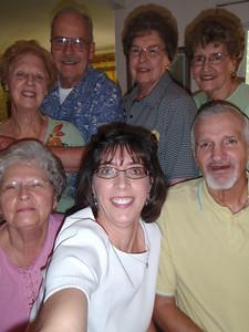 11 - Wade, Jane, Gladys, Troy, Sarah, Betty, and Jenny at Jane's house (self-portrait!)