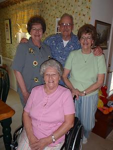13 - Sarah, Jane, Wade, and Betty at Jane's house