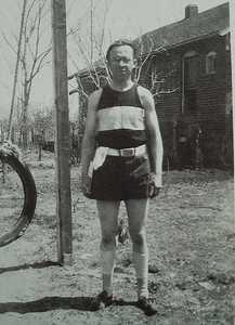 Donald Wade, in shorts