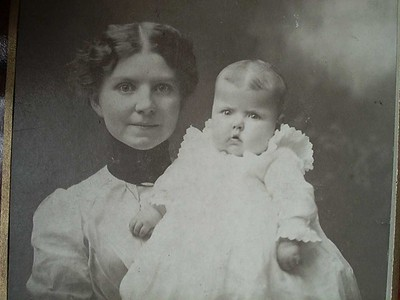 Cora Wade and infant Ione