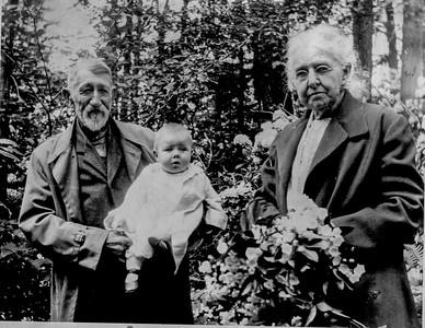 Marshall Walcott, Clara Walcott, and Grandson Willard Walcott