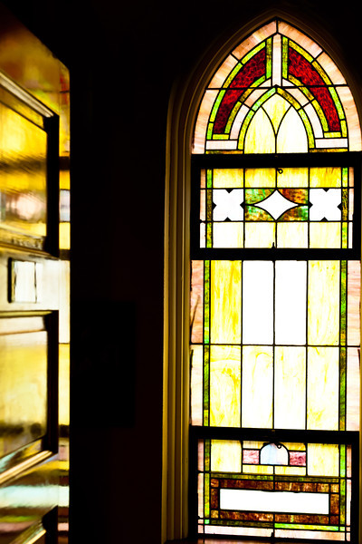 Day trip to Tawas City.  This was taken in a converted church, now a sewing center in Pinconning.