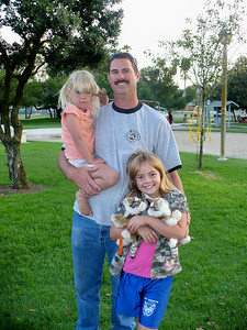 Michael Benz and his two daughters
