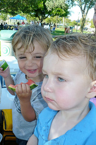 Two watermelon boys -- Marty and Daniel