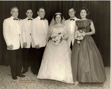 Eliot and Marie wedding 1957