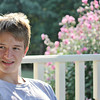 Nephew Aric, age 16.  Sitting in their gazebo, where we spent a lot of time.