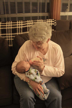 Great Grandmasue and Max