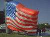 Parade balloon inflating on the National Mall