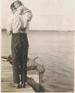 With Marcia's Father Burt La Grave Buffalo Lake