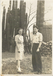 """With Roul a doctor in Mexico in 1944. His parents would not allow the marriage because she was not Mexican. Victor, """"Had his parents not permitted their son to marry a """"Gringa"""" then you kids would look a lot different now!"""""""