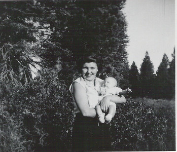 Marcia with Baby Mike in Truckee CA