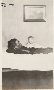 With her Father,  Burt LaGrave. Age 3 1/2 mo.