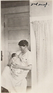 With her mother Olive Washington LaGrave. 3 1/2 months old.
