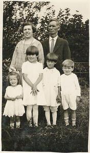 Family Picture  Back Row L to R Olive La Grave Washington, Burt La Grave Front Row: Aletha, Marcia, Alice, Royce