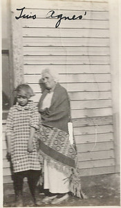 """The captain says """"The Two Agnes"""".  Agnes LaGrave was her paternal grandmother who lived across the street in Esmond, North Dakota with her grandfather Charles LaGrave."""