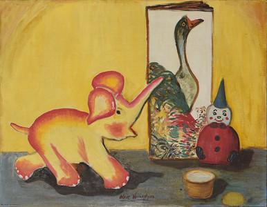 Elephant to the McLane Children - 1954  - 18 X 14