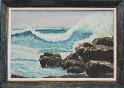 Seascape  - With Frame 24 X 16