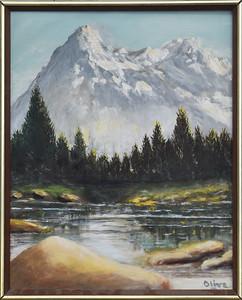 06 Snowcap Mountain - with Frame -  16 X 20