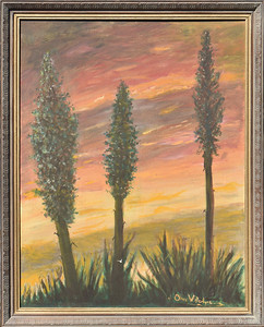 Century Plants -  with Frame - 22 X 28