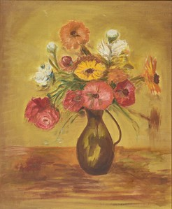Flowers In a Brown Pot  - 16 X 20