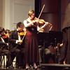 T.C. Williams High School senior Sara Neilson plays violin solo in the Violin Concerto No. 1 by Johann Sebastian Bach