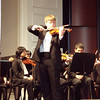 Mount Vernon HS senior Andrew Juola plays violin solo in the Symphonie Espagnole by Edouard Lalo