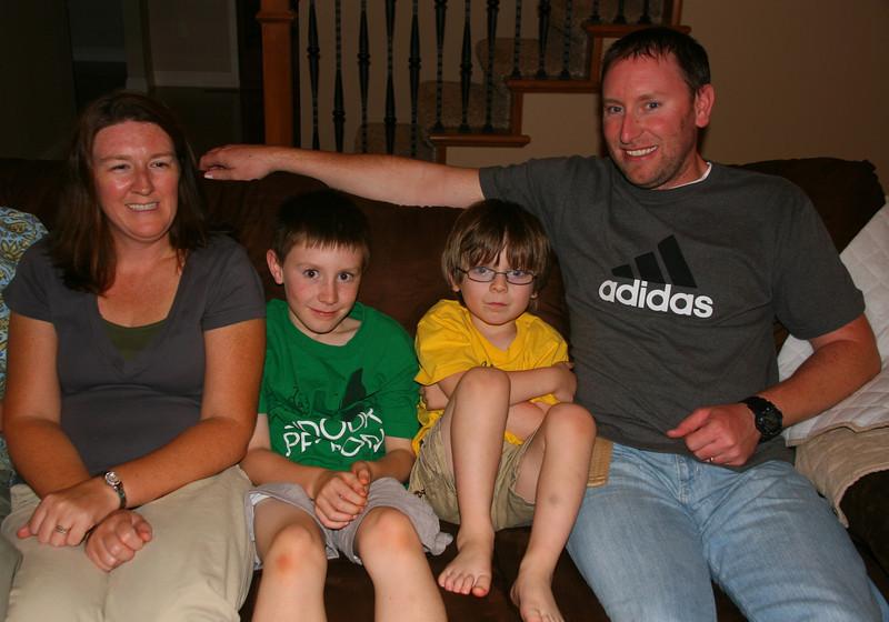 On Thursday evening, we visited with Sheri, Tyler, Evan, and Matt.