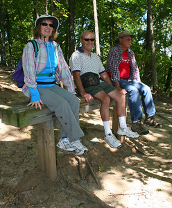 The benches along the trail seemed to have been constructed for very tall people.