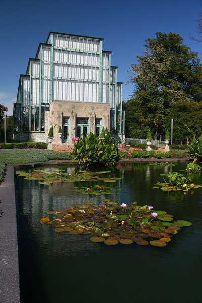 On Thursday, Dave, Fran, Rena, and I spent much of the day in St. Louis. This is the Jewell Box, a famous indoor garden in Forest Park.