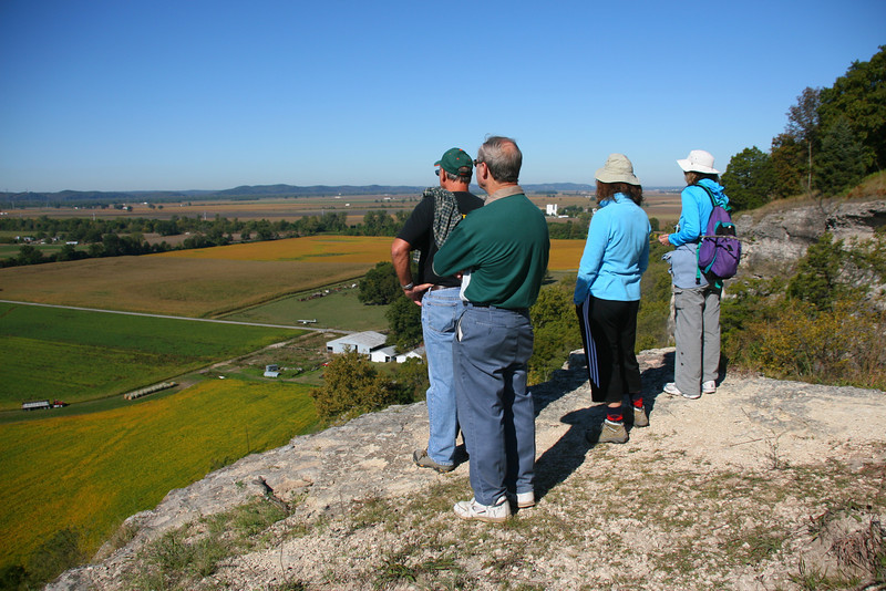 From the top, there are great views out over the Mississippi flood plain.