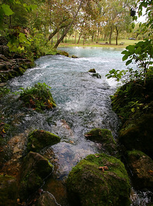 The second one was Big Springs, one of the three largest springs in America. The average outflow is 286 million gallons per day.