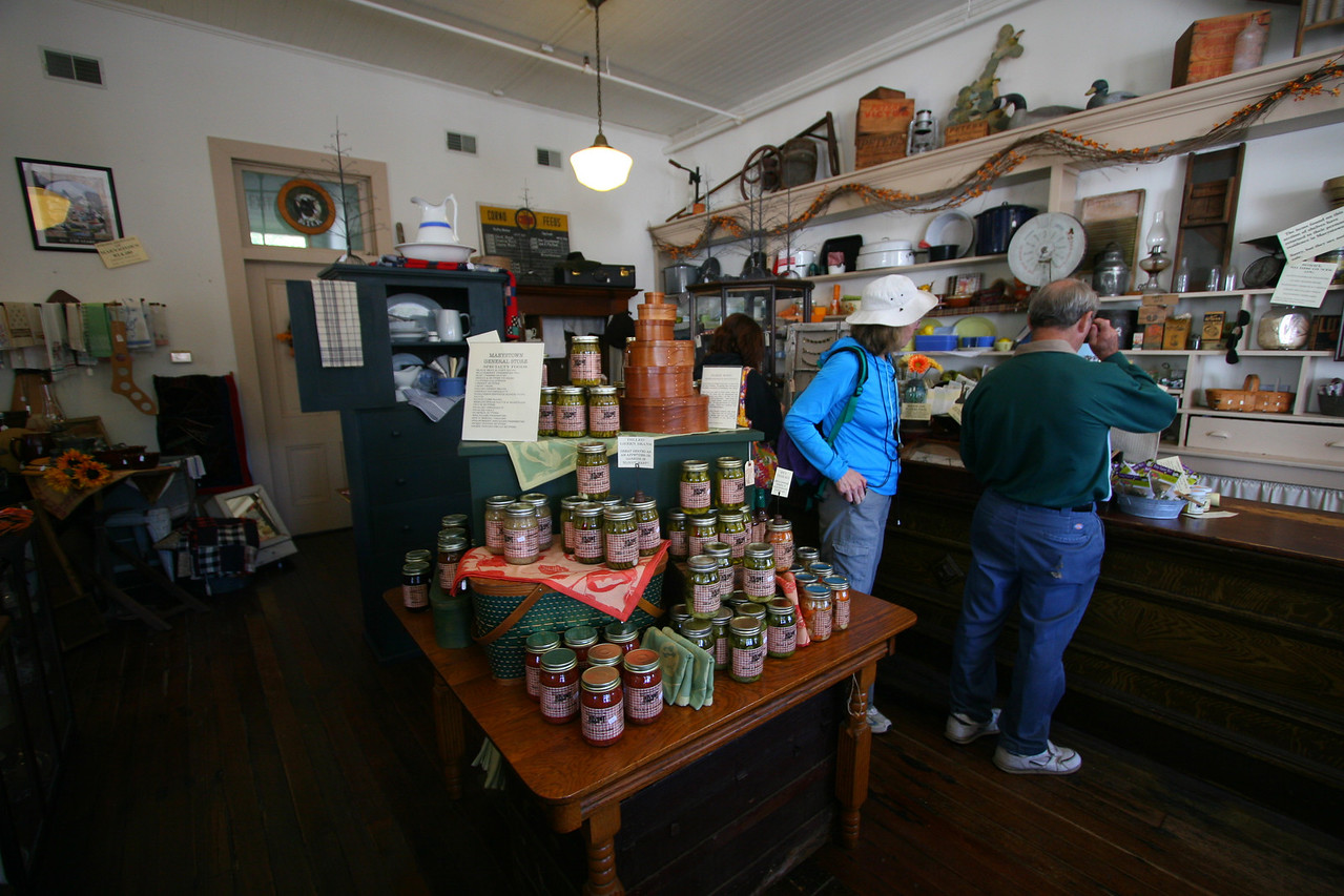 At nearby historic Mayestown, we visited an old general store.